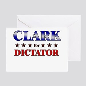 CLARK for dictator Greeting Card